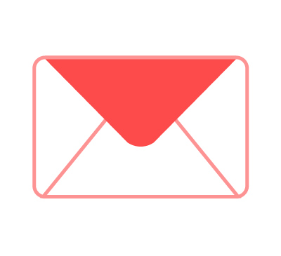 An icon that represents an envelope.